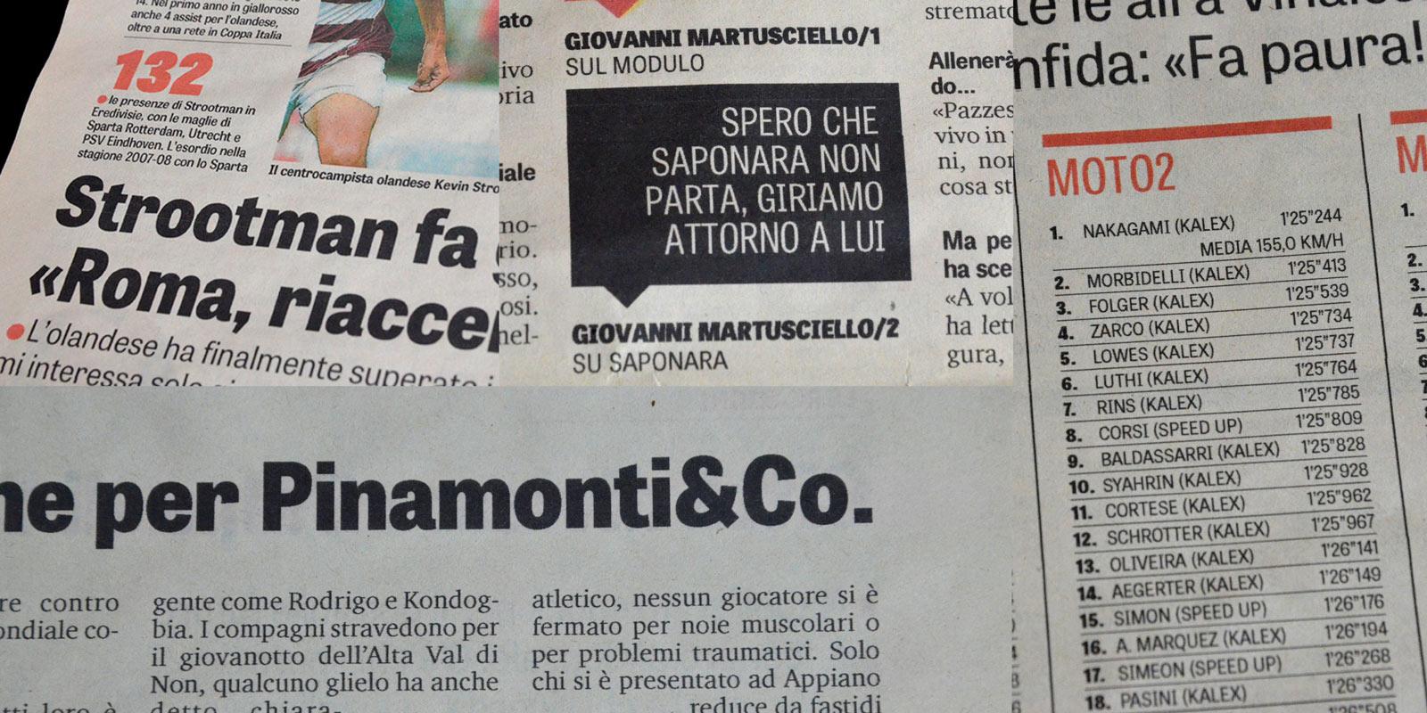 Tablet Gothic in Gazzetta dello Sport