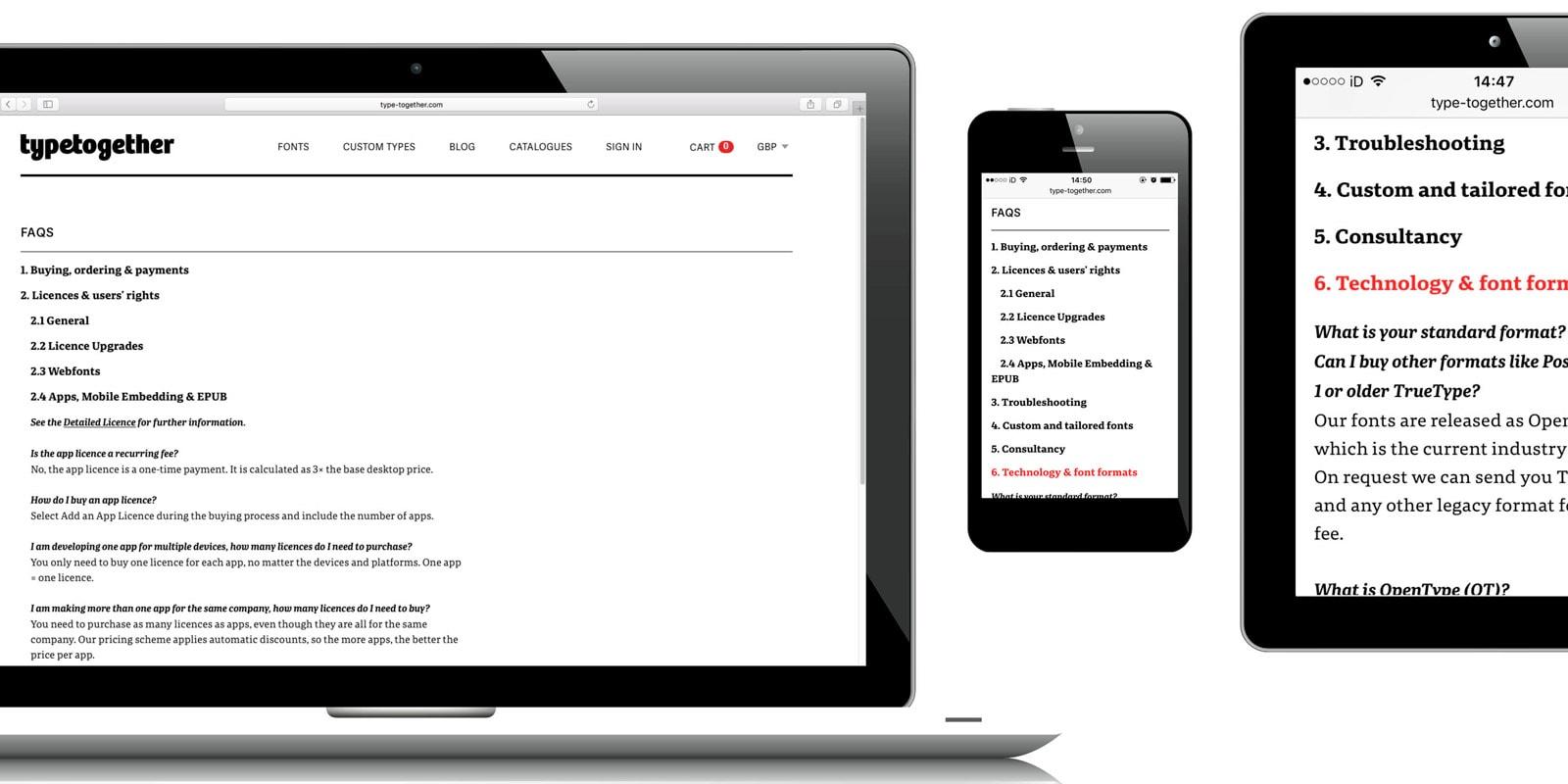 TypeTogether Website FAQ