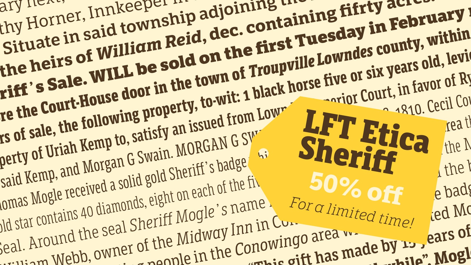 LFT Etica Sheriff 50% off