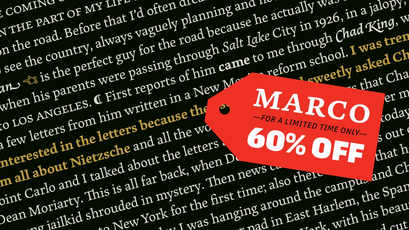 Marco 60% discount