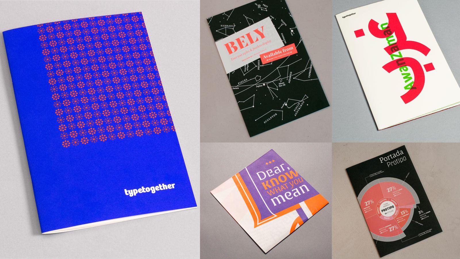 TypeTogether printed specimens