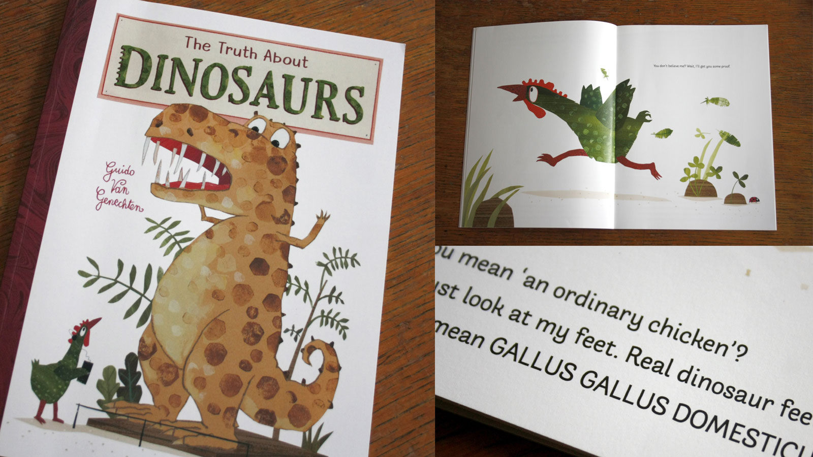 Arlette in use in the picture book The Truth about Dinosaurs