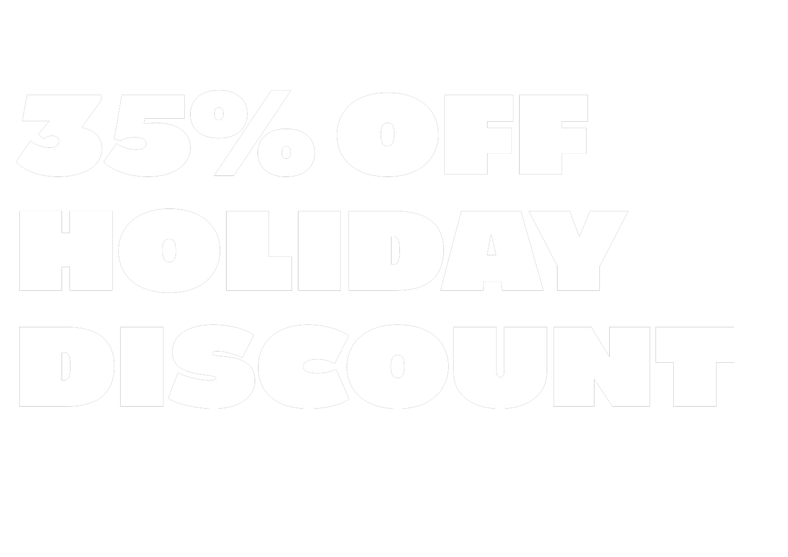 60% off Holidays discount