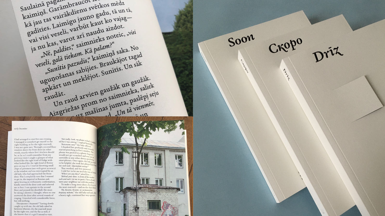 Garalda in use in the trilingual art publication Soon (English, Latvian, Russian)