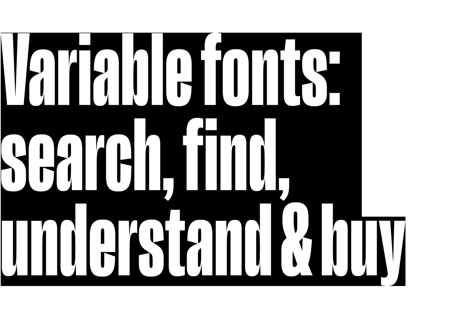 Finding & understanding variable fonts
