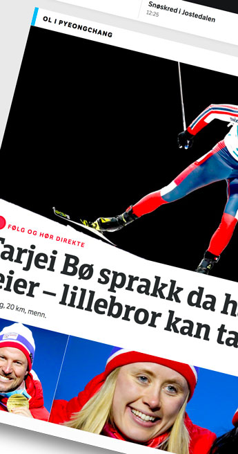 Custom Font for Norwegian public TV station - NRK Bespoke Typeface by Typetogether