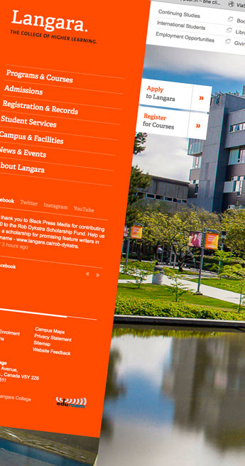 Custom Font for Custom language extension - Langara College by Typetogether