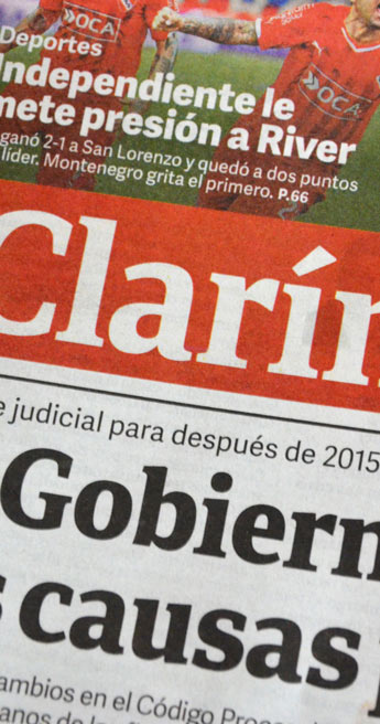 Custom Font for Clarin Publishing - Clarín Titulos, a custom typeface by Typetogether