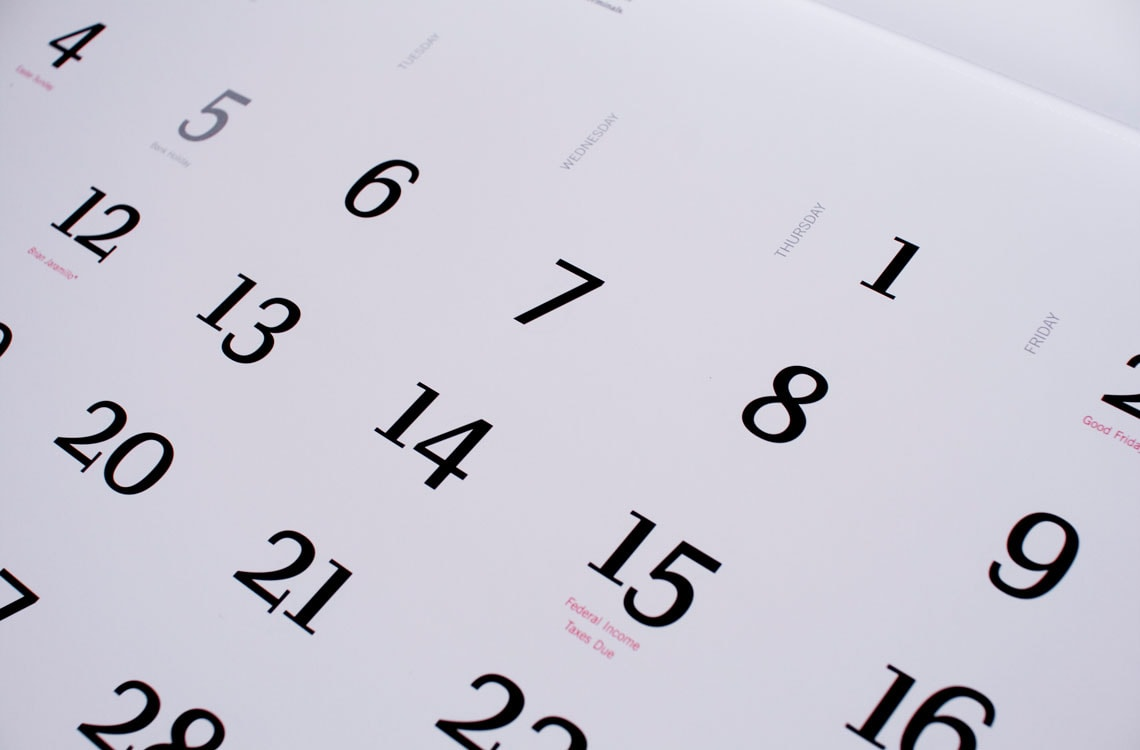 Calendar Typography Examples : Pentagram calendar type in use typetogether high quality