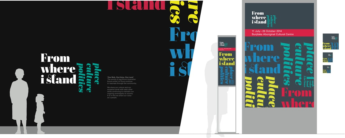 Abril in use in the 'From Where I Stand: Place, Culture and Politics' exhibition