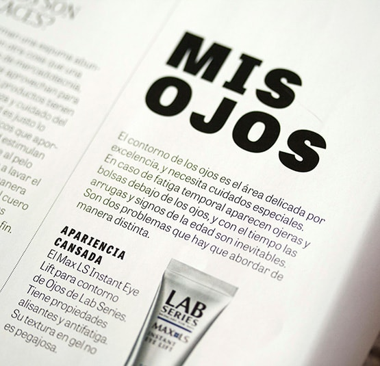 tablet  gothic font in GQ mexico