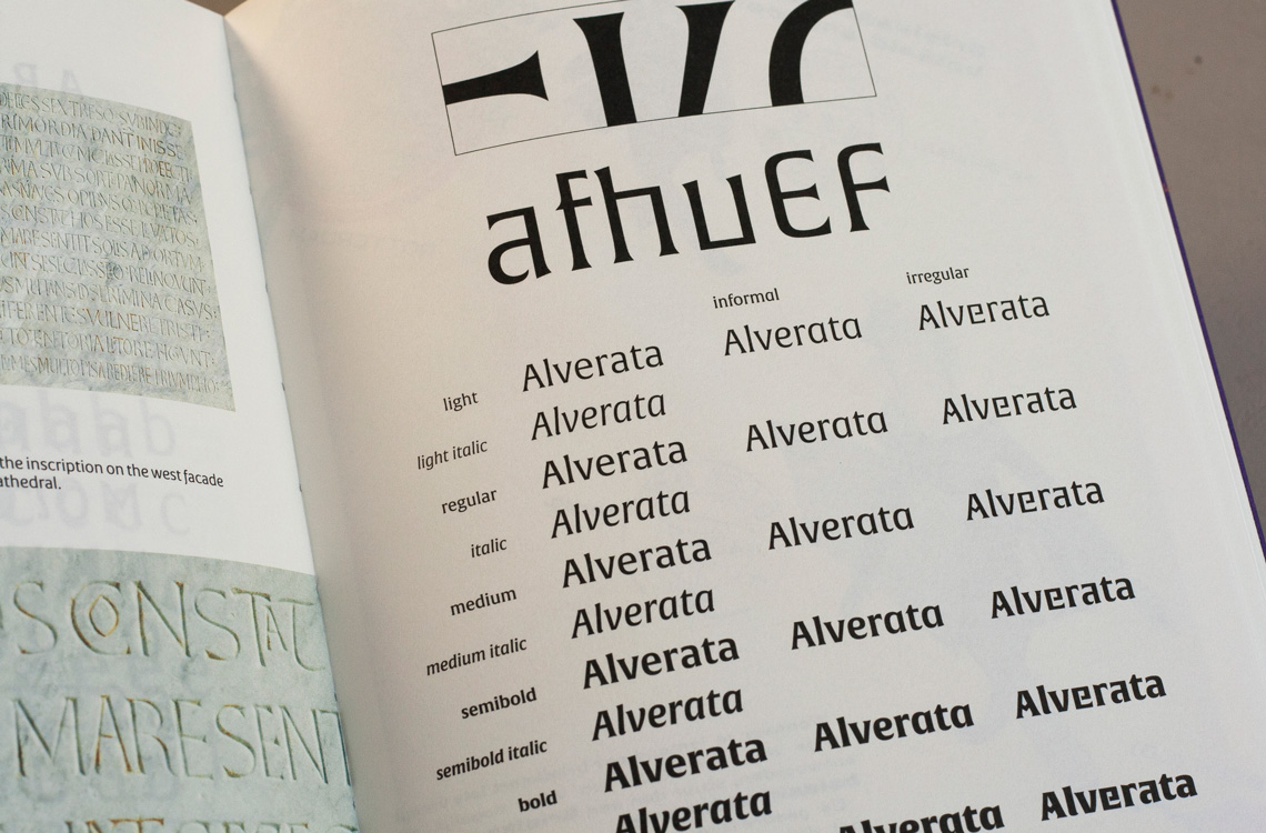 Alverata Unger font theory of type design