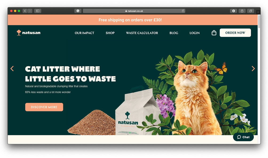 Catalpa wastes no space in cat litter brand