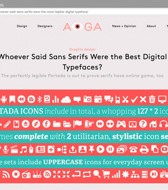 'Whoever Said Sans Serifs Were the Best Digital Typefaces?'